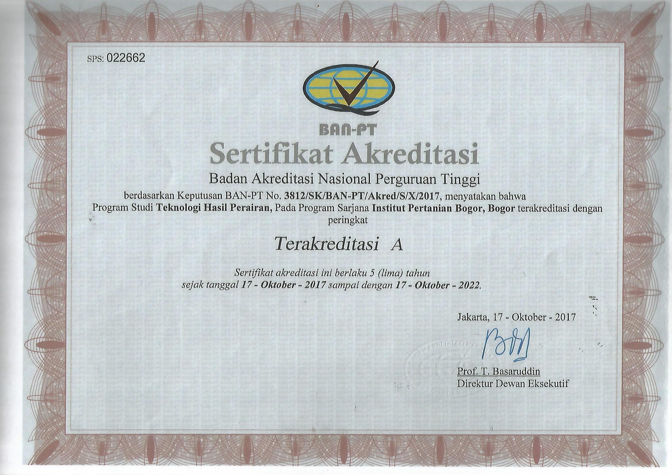 Akreditasi S1 2017-2022